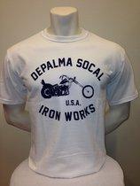 Iron Works T-shirt vit