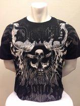 Viking skull -Svart T-shirt