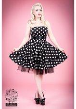 Axelbandslös klänning svart/vit